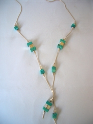 Israeli Turquoise silver necklace