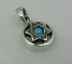 Jewish star of David pendant sterling silver