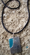JNF for Israel Forever Blue Box Pendant sterling silver