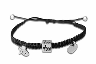 Kabbalah braided bracelet heart fish aled
