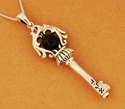 Key of Soul against evil eye necklace