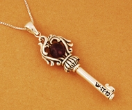 Key of soul for Health sterling silver necklace