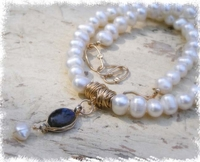 Labradorite pearls designer necklace