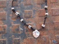 Leather Silver Style necklace