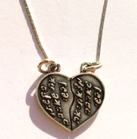 Love heart silver necklace