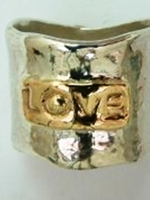 Love ring silver & gold