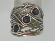 Lovely amethyst  silver ring