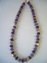 Made in Israel amethyst necklace