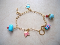 Made in Israel charms bracelet