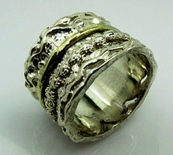 Man's jewellery women's rings spinner gold silver ring