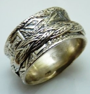 Men's ring silver movement rings