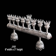 Menorah for Hanukkah Made in Israel in sterling silver & Shabbat candle holders