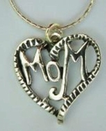 Moms necklace silver pendant