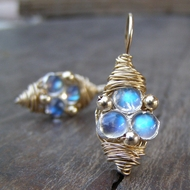 Moonstone earrings Designer adorable earrings Video