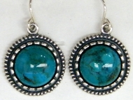 Native American inspired earrings silver & Eilat stones