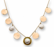 Necklace Designer silver and gold filled