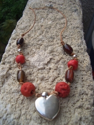Necklace one of a kind silver heart