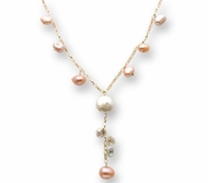 Necklace pearls goldfilled