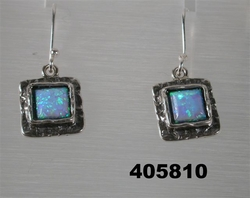 Opal sterling silver 925 earrings