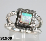 Opal sterling silver ring