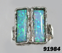 Opals rings sterling silver ring