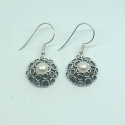Pearl earrings Handcrated jewelry earrings