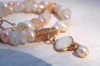 Pearls & moonstone necklace