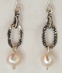 Pearls sterling silver 925 dangle earrings