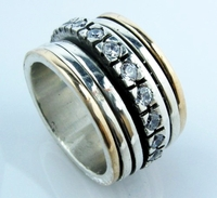 Ring | cz ring | silver & gold cocktail ring