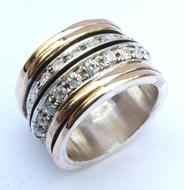 Ring | Cubic Zirconia Ring | silver & gold cocktail ring