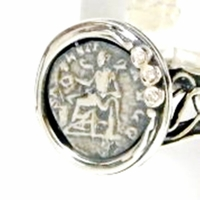 Roman coin sterling silver ring