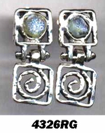 Roman glass artistic earrings