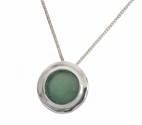 Roman Glass artistic jewelry |necklace | sterling silver pendant