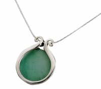 Roman Glass artistic jewelry | pendant | silver .925 necklace