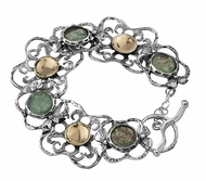 Roman Glass artistic jewelry| silver bracelet  goldfilled|roman glass bracelet | verre romain