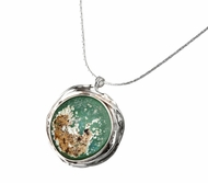 Roman Glass artistic jewelry| silver necklace |roman glass necklace