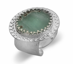 Roman Glass artistic jewelry |silver ring