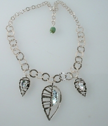 Roman glass artistic necklace leaves