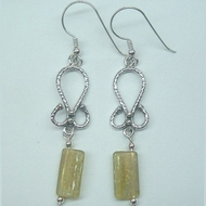 Roman glass earrings sterling silver jewelry