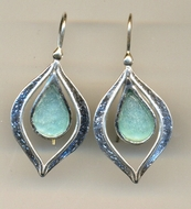 "Roman glass earrings. Sterling silver ""roman glass"" jewelry"