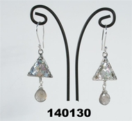 Roman glass jewelry earrings sterling silver