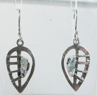 Roman glass leaves earrings