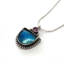 Roman Glass necklace Made in Israel jewellery