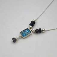 Roman glass pendant necklace