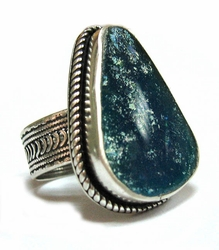 Roman glass ring sterling silver yemenite filigree handcrafted.