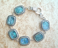 Roman Glass silver israeli bracelet Made in Israel