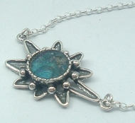 Roman glass silver mystic star design