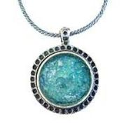 Roman Glass silver necklace