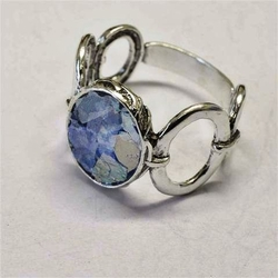Roman Glass silver ring