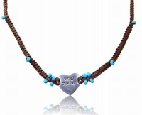 Shema Israel heart necklace Lucky jewellery sterling silver